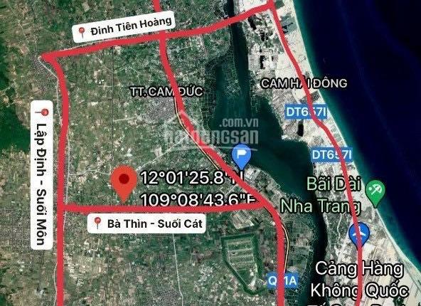 Đất nền Đườg trục chính Cam Lâm 40m - 800tr/ lô. Mặt tiền 6-8M. Diện tích >120m2.CAM KẾT THANH KHOẢN
