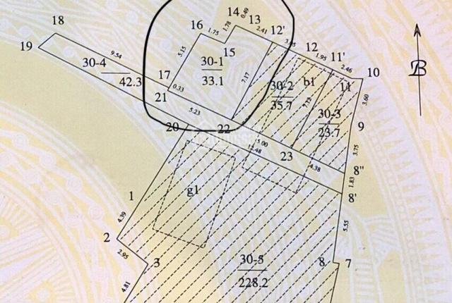 Chính chủ bán đất ngõ 101 Đào Tấn (hiện trạng C4)