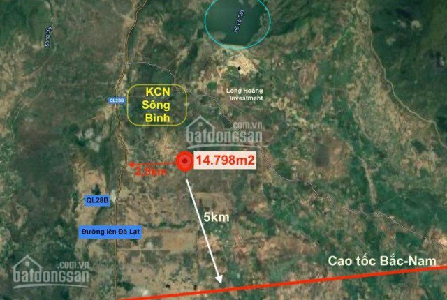 14.798m2 SHR xã Sông Bình, giáp suối dài đất Trống, đầu tư dài hạn gía chỉ 70nghìn/m2