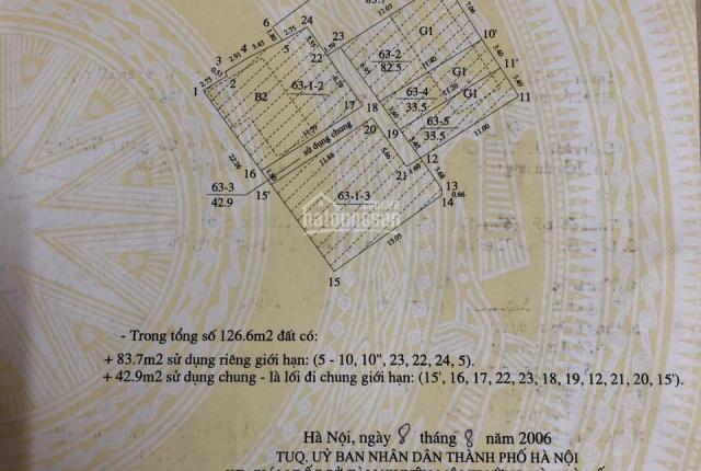 Bán nhà 157 Pháo Đài Láng, Láng Thượng, Đống Đa, 83m2x3T 5,75tỷ, LH 0943250929