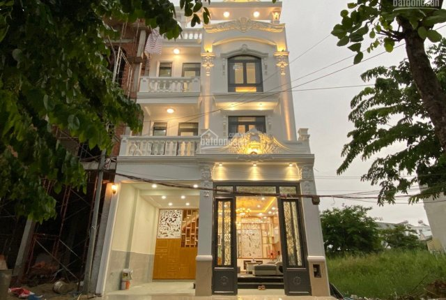 Bán Nhà Mới Xây Kiến Trúc Châu Âu Khu Vip Green Riverside Huỳnh Tấn Phát, DT 6,5 x 12.5m, 4 Tầng