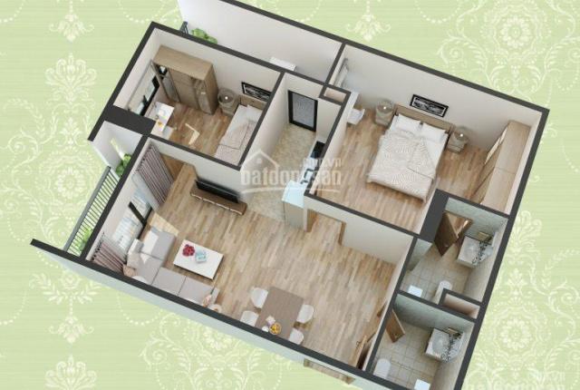 Tin mới: Bán gấp căn hộ 2 ngủ hơn 70m2 full nội thất tại chung cư HUD3 60 Nguyễn Đức Cảnh