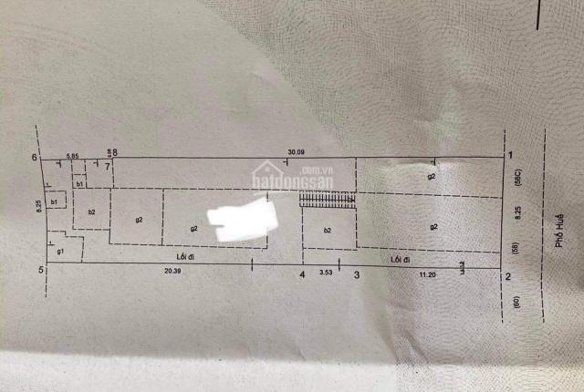 Chính chủ bán gấp lô 300m2 mặt Phố Huế hiện cho thuê 300tr/th hợp làm nhà hàng KS. LH: 0989.38.3458