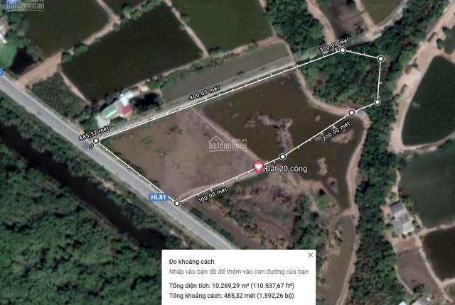 Bán đất 10 công thị xã Duyên Hải, 2 mặt tiền, mặt tiền lộ lớn 70m, lộ nhỏ mặt tiền hơn 150m