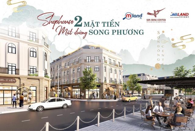 Mở bán shophouse Sơn Đồng Center 2 mặt tiền đường Tỉnh Lộ 422 và Trịnh Văn Bô kéo dài