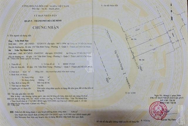 Bán nhà mặt tiền Trần Bình Trọng - phường 3 - Quận 5