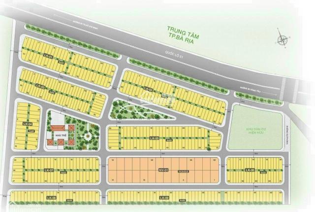 Đất nền Baria City Gate 1.63 tỷ, mặt tiền QL51, Đối diện trung tam thương mại Bà Rịa. LH: 090906350