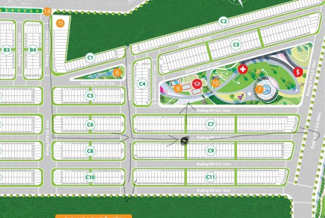 Cần bán gấp, lô góc, gần công viên, gần sông, số lô đẹp C.789, dự án Hiệp Phước Harbour View