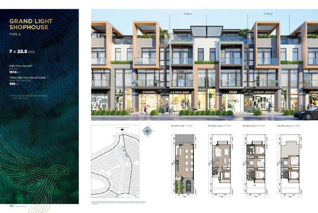 Báo giá chi tiết ShopHouse 2 mặt tiền 30m trung tâm Đảo Phượng Hoàng