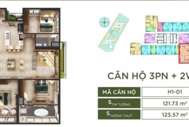 Trả trước 580tr sở hữu ngay căn hộ 3PN + 2vs hơn 110m2 tại dự án Haven Park - Ecopark, CK khủng