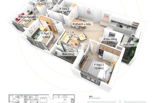 Căn hộ 90m2 Aquabay ban công hướng Nam - mua trực tiếp chủ đầu tư