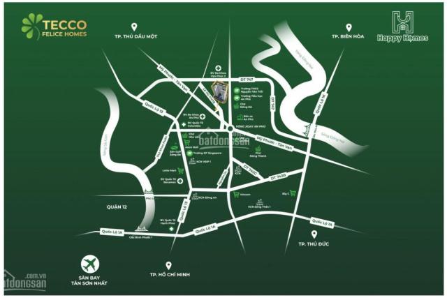 Chỉ 1.1 tỷ căn 2PN cho dự án Tecco Felice Home Thuận An