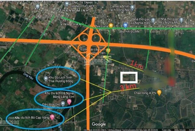 Lô góc 2 mặt tiền 1006m2 (21x48m) xã Vĩnh Thanh, Nhơn Trạch, giá rẻ nhất khu vực, chỉ 2.2 tỷ