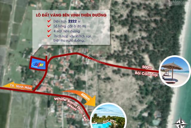 2222m2 chính chủ cần bán lô đất 4 mặt tiền cách mặt biển Dốc Lết khoảng 400m sổ đỏ chính chủ giá TL