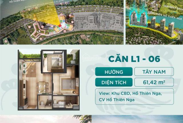 Căn hộ khoáng nóng 2PN 2WC tầng đẹp, rẻ nhất The Landmark Onsen - TT chỉ từ 440tr - Ký chủ đầu tư