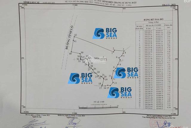 Cần bán gấp mảnh đất Trung Tâm Chợ Y TÝ-SAPA2.S:1215m2.
