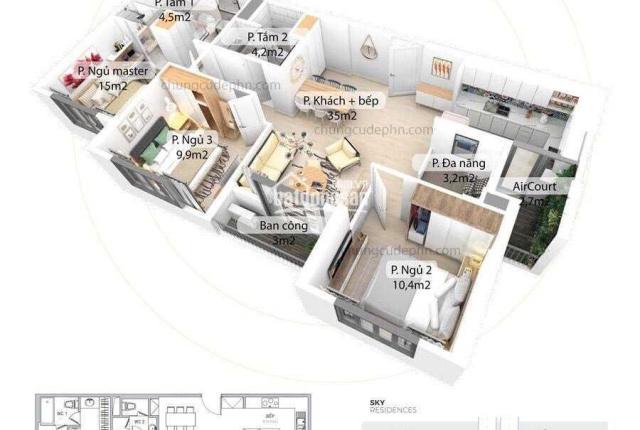 Bán căn hộ 90m2 Ecopark Aquabay, giá 3,1 tỷ ban công hướng ĐN