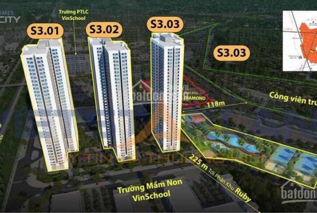 căn hộ 2 ngủ 55m2 chính sách khủng nhất thị trường tòa căn hộ S3 tầng cao