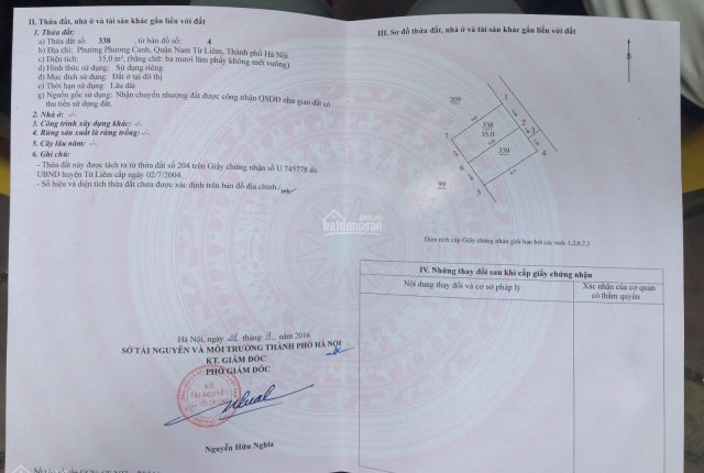 Hàng hiếm tại Tu Hoàng - Nam Từ Liêm mua đất tặng nhà cấp 4, 35m2
