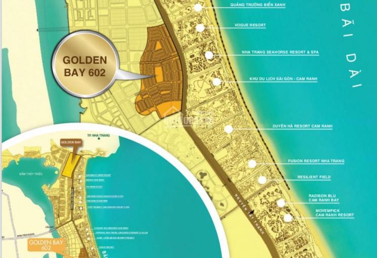 Bán gấp lô góc Golden Bay GĐ1, sát đường Nguyễn Tất Thành & 602 ngay quảng trường, hồ cảnh quan