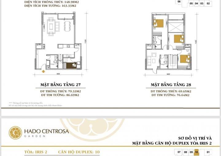 Bán Penthouse Duplex Hà Đô Centrosa giá từ 50tr/m2 nhà thô thanh toán 95% LH: 0906234169