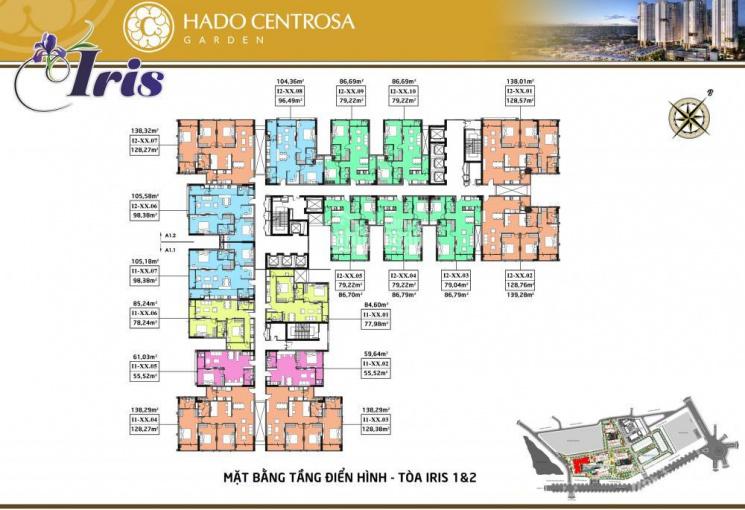 Bán căn hộ thông tầng vườn trên cao dự án Hà Đô Centrosa, CK 6.3% thanh toán 95%