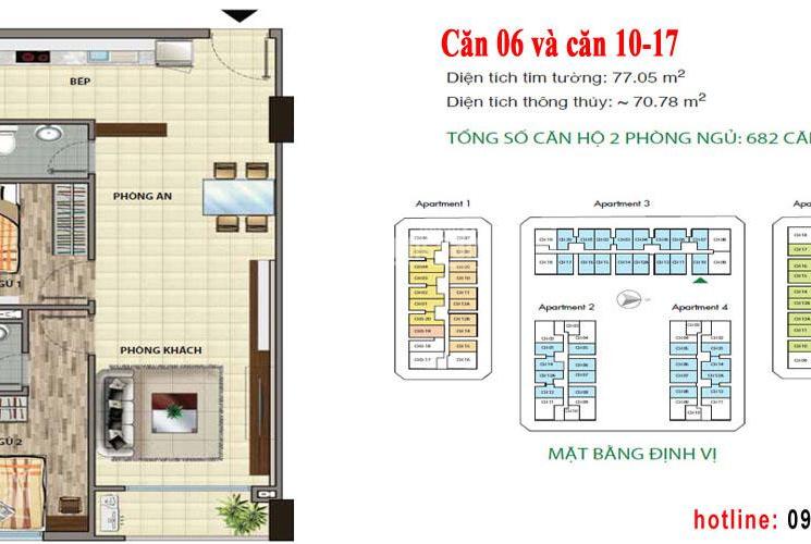 Bán căn hộ Cityland Park Hills, căn 2 phòng ngủ view nội khu, P2, diện tích 76m2, giá 3.050 tỷ