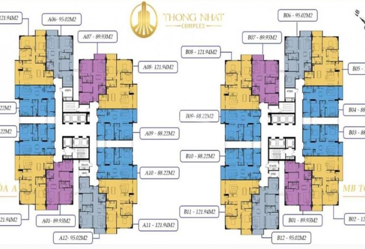 Trực tiếp CĐT mở bán đợt cuối chung cư Thống Nhất, 3PN từ 88 - 122m2, vay 60% LS 0%, CK 200 triệu
