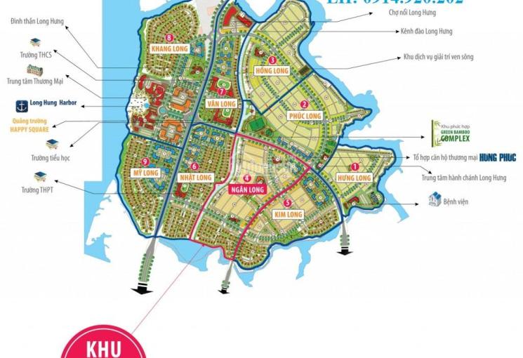 Cần ký gửi, bán đất khu DA đô thị Long Hưng, 1 số nền giá rẻ cần bán nhanh, LH: 0914.920.202 (Quốc)