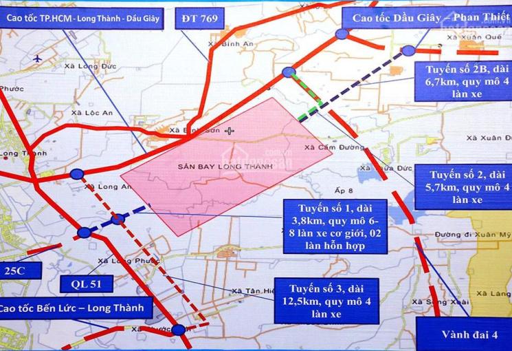 Bán đất đường nhánh Hương Lộ 10, cách sân bay 5km, 1.3 hecta, 1 tr/m2, 0901414778