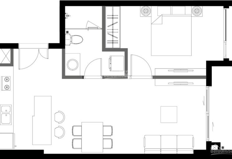 Chính chủ bán căn hộ Ascent Plaza, Bình Thạnh 1 phòng ngủ 55.91m2 view Quận 1 chênh 100 triệu