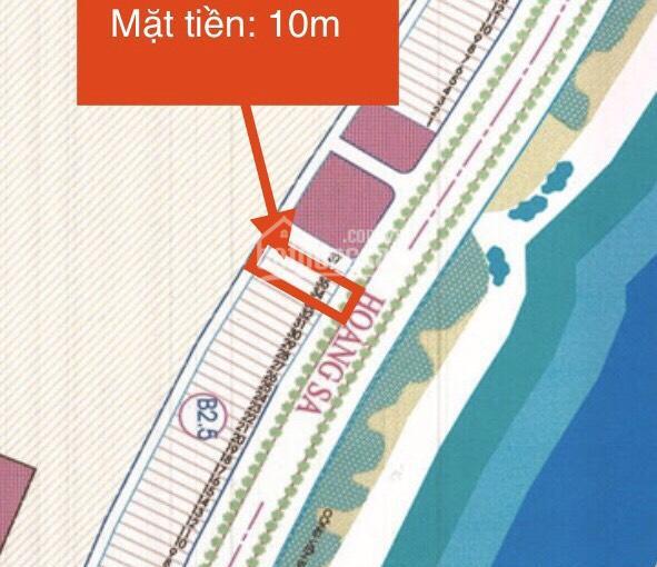 Bán gấp lô đất số 34 và 35 mặt đường Hoàng Sa, đối diện bãi tắm Mân Thái. DT: 207m2, mặt tiền 10m