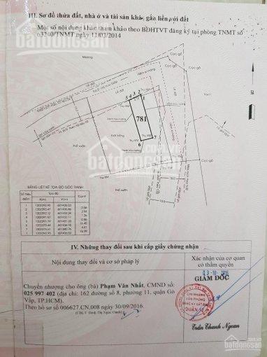Đi nước ngoài cần bán lại lô đất Thạnh Lộc 22,Ngã Tư Ga,q.12,dt 115m2,giá 3 tỷ TL,SHR,được XDTD. LH