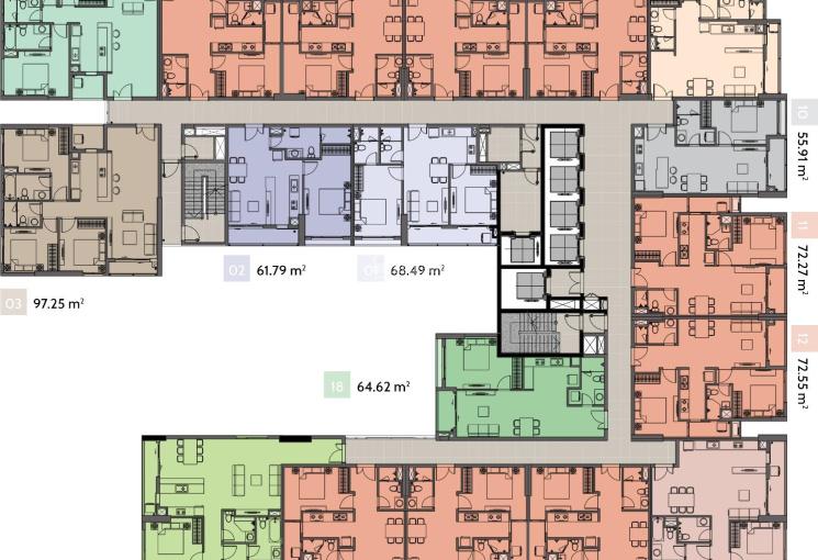 Chính chủ bán căn hộ Ascent Plaza, Nơ Trang Long, Bình Thạnh 1PN 61.79m2 chênh lệch 30 triệu