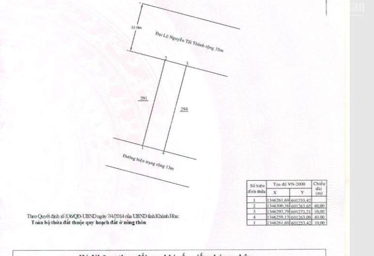 Chính chủ cần bán đất Phước Đồng, Nha Trang giá tốt nhất thị trường. LH: 0812166279