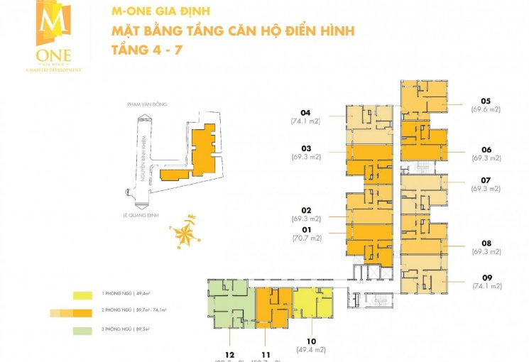 Cần gấp bán căn góc 2PN - 2WC DT 74.10m2 C/C M - One Gia Định giá rẻ 3.39 tỷ chốt trong tuần
