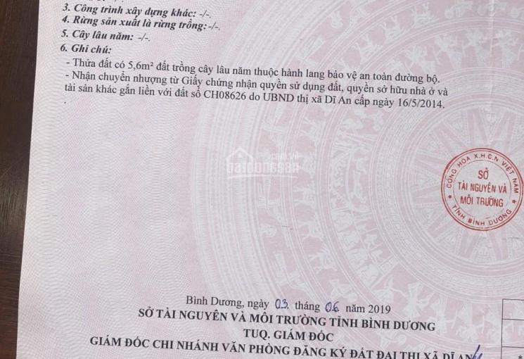 Chủ gửi nhà đường Nguyễn Văn Trỗi, P. Dĩ An, Bình Dương - DT 50m2 trệt lầu 2PN, 2WC đường ô tô 4m