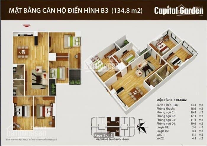 Cần bán gấp căn hộ cao cấp ở chung cư Capital Garden, Ngõ 102 Trường Chinh, Đống Đa, HN