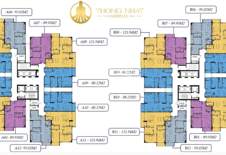 Bán căn hộ 88m2 - 122m2 suất ngoại giao chung cư 82 Nguyễn Tuân, Thống Nhất Complex nhận nhà ở ngay