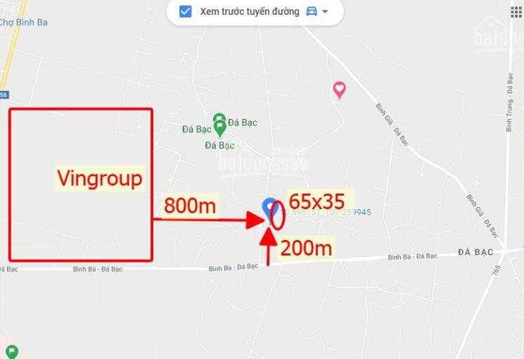 Lô đất chính chủ có 250m2 thổ cư tại Châu Đức - Bà Rịa Vũng Tàu - Cách dự án Vingroup 800m