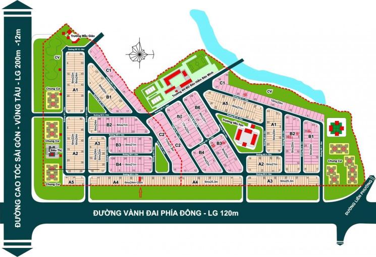 Cần bán lô đất địa ốc 3 nằm trên trục chính dự án giá 5.6 tỷ ( Có thương lượng )