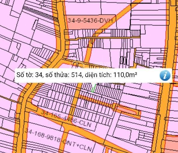 Gia đình cần sang lại lô đất xã Phú Đông, DT: 110m2, ngang 5x21m, có 100m2 thổ