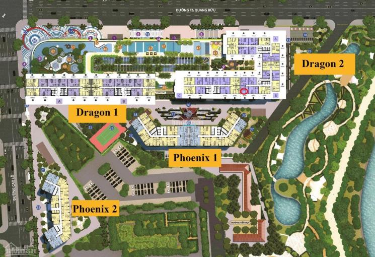 Chính chủ bán gấp D2B-1406, 67m2, 2PN, 2WC, hướng Đông Nam, view công viên 10ha, LH: 0936 266 744