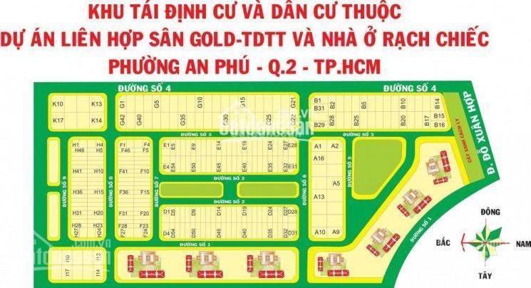 Bán nền biệt thự 10x20m, khu dân cư Nam Rạch Chiếc, P. An Phú, hướng nam, 14.5 tỷ 0933182463 Lê Duy