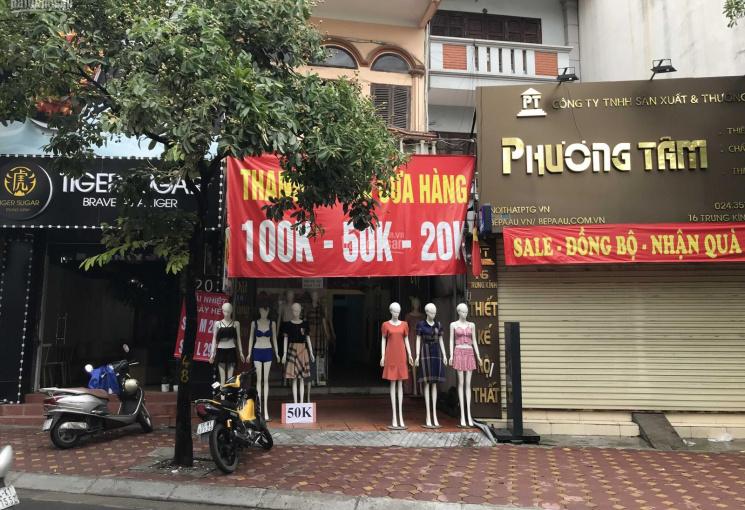 Cho thuê cửa hàng mặt phố Trung Kính, 60m2, 16tr/th