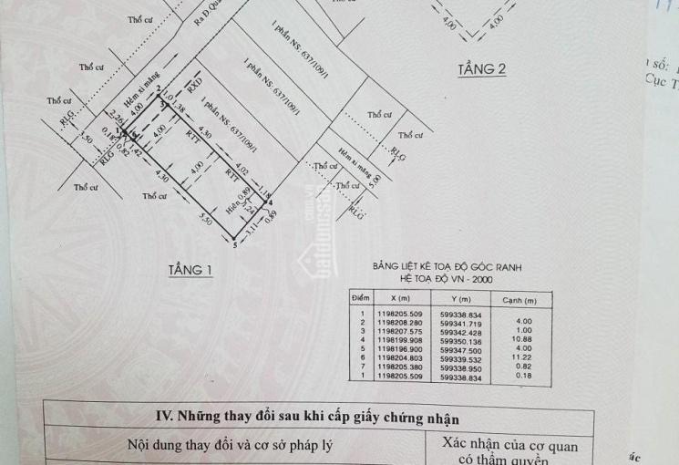 Bán gấp lô đất 637 Quang Trung, P11, DT: 4 x 12m