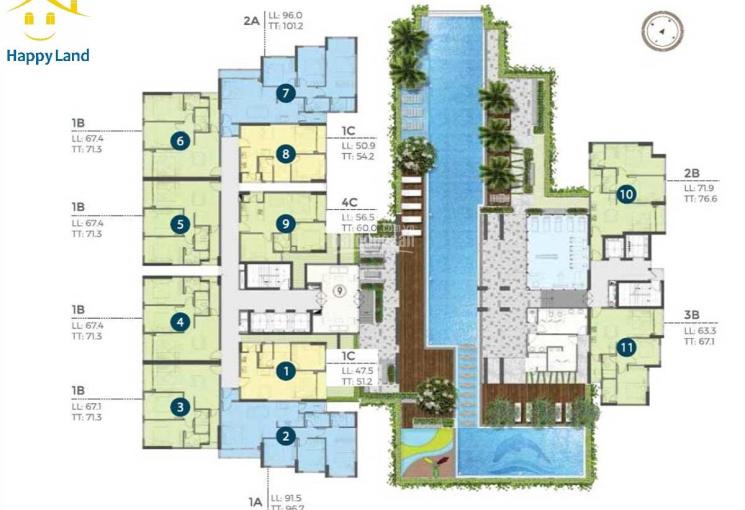 Bán căn hộ Precia quận 2 chiết khấu 2%, trúng kim cương & quà 160 triệu, TT 30% 1,1 tỷ đến nhận nhà