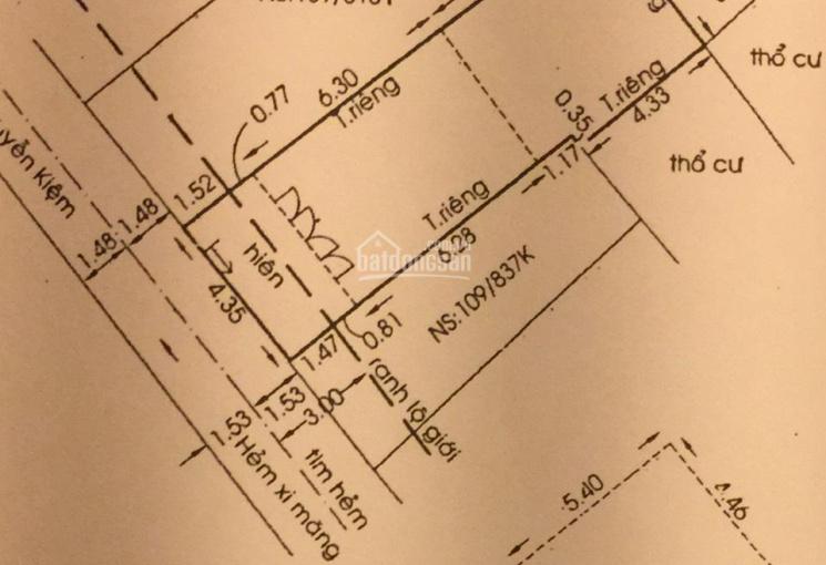 Bán gấp nhà cấp 4 Nguyễn Văn Công DT: 4,36 x 14m. LH: 0902504839