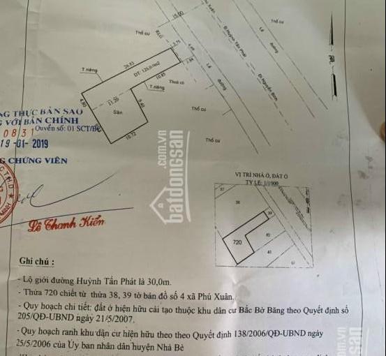 Chính chủ bán căn nhà mặt tiền Huỳnh Tấn Phát 228m2 đối diện 4 block chung cư giá chỉ 12,4 tỷ