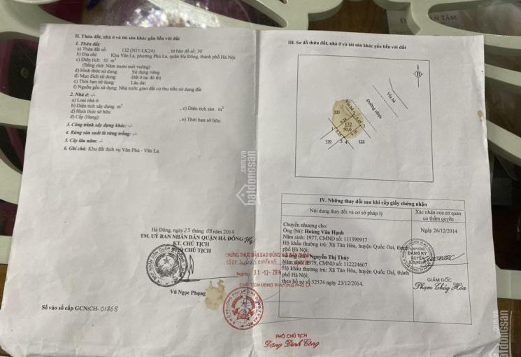 Bán đất dịch vụ Văn Phú, Hà Đông, Hà Nội